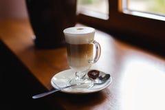 咖啡杯玻璃 库存照片