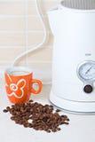 咖啡杯水罐水壶 库存图片