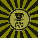 咖啡杯绿色 免版税库存照片