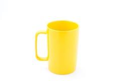 咖啡杯黄色 免版税库存照片