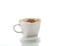 滴水咖啡杯 库存照片