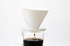 滴水咖啡杯 免版税库存图片