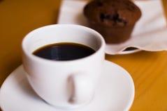 咖啡松饼 免版税库存图片