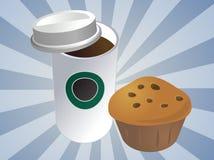 咖啡松饼 免版税库存照片