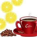 咖啡柠檬 免版税图库摄影