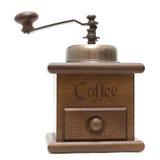 咖啡查出的磨房白色 免版税库存图片