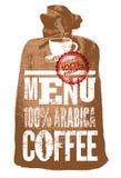 咖啡查出的菜单白色 餐馆、咖啡馆或者咖啡馆的印刷减速火箭的海报 也corel凹道例证向量 免版税库存图片
