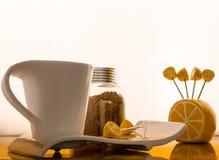 咖啡查出集合白色 免版税库存图片