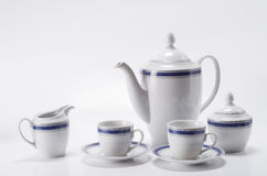 咖啡查出集合白色 免版税库存照片