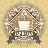 咖啡标志 库存照片