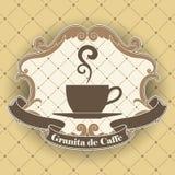 咖啡标志 库存图片
