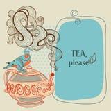 咖啡框架茶 免版税图库摄影