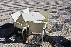 咖啡桌 免版税库存照片