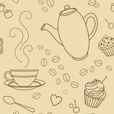 咖啡模式 免版税库存照片