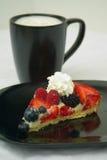 咖啡水果的馅饼 免版税库存照片