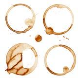 咖啡污点敲响传染媒介 免版税库存照片