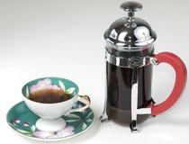 咖啡法语新闻 库存图片