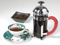 咖啡法语新闻 库存照片