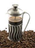 咖啡法语新闻 图库摄影
