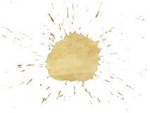 咖啡泼溅物 免版税库存照片