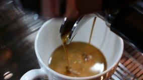 咖啡浓咖啡准备 储蓄英尺长度 股票视频