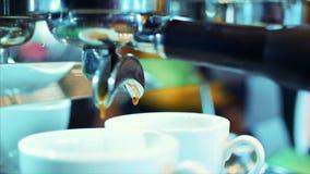 咖啡浓咖啡准备 储蓄英尺长度 股票录像