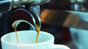咖啡浓咖啡准备 储蓄英尺长度 影视素材