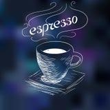 咖啡浓咖啡剪影  库存图片