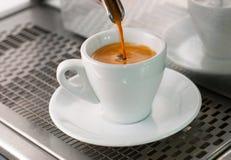 咖啡浓咖啡玻璃 库存照片