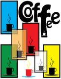 咖啡海报界面 免版税图库摄影