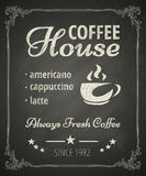 咖啡海报 免版税图库摄影