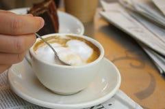 咖啡混乱 免版税库存照片