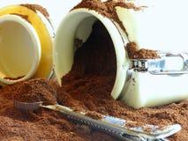 咖啡溢出了 免版税库存图片