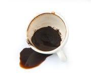 咖啡溢出了 图库摄影