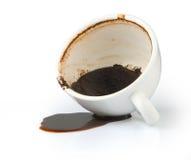 咖啡溢出了 库存图片
