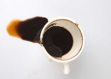 咖啡溢出了 免版税库存照片