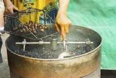 咖啡烤栗子 免版税图库摄影