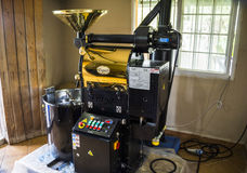 咖啡烧烤在巴拿马 免版税库存照片