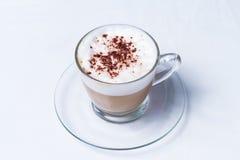 咖啡热奶咖啡或拿铁 库存图片