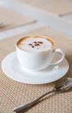 咖啡热奶咖啡 库存图片