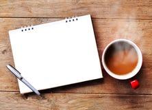 咖啡热早晨 免版税库存照片