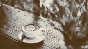 咖啡热latte 库存照片