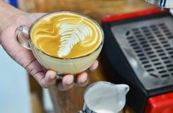 咖啡热latte 免版税库存照片