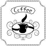 咖啡牌与奶油的 库存照片