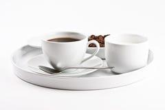咖啡牌照 免版税库存图片
