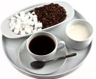 咖啡牌照 免版税库存照片