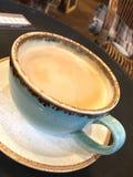 咖啡牛奶可口americano的奶油 免版税库存图片