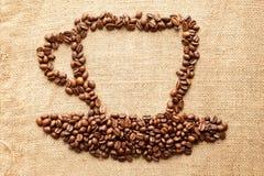 咖啡玉米杯子 免版税库存图片