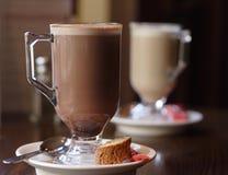 咖啡玻璃杯子 免版税库存照片