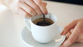 咖啡用糖 影视素材
